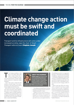 From the Chairman of Smart Transport - Reflect on Climate Change